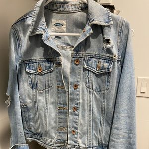 Distressed Old Navy Jean Jacket